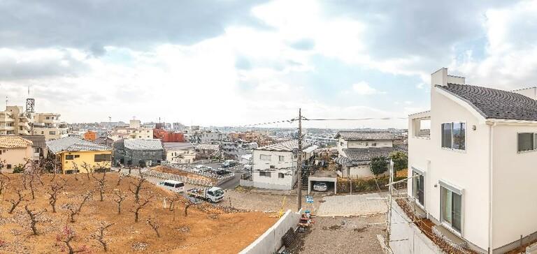 たまプラーザ・鷺沼の徒歩圏!生活圏エリアの新築戸建(C号棟バルコニーからの眺望写真)