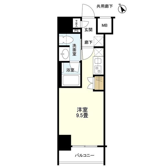 リビオレゾン新虎通り(間取り)