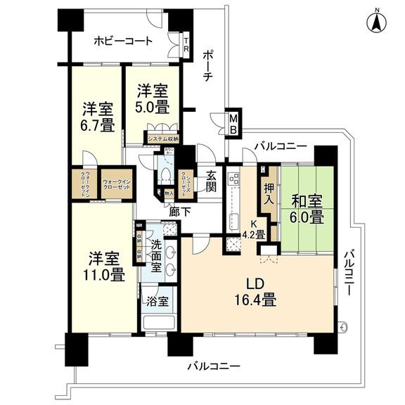 ブランズ西大津レイクフロント(間取図)